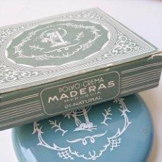 Antigüedades: POLVERA MADERAS DE ORIENTE MYRURGIA CON SU CAJA, SIN USO, PERFECTO ESTADO. Lote 95574615