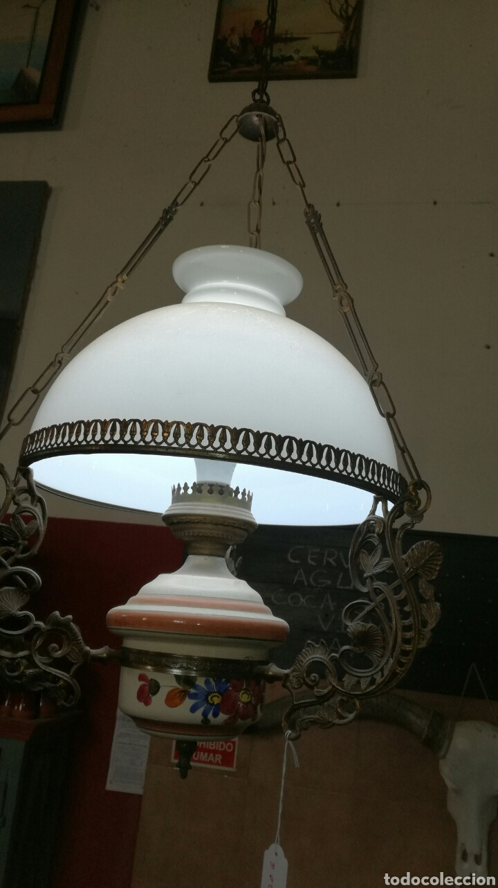 LÁMPARA DE CADENAS (Antigüedades - Iluminación - Lámparas Antiguas)