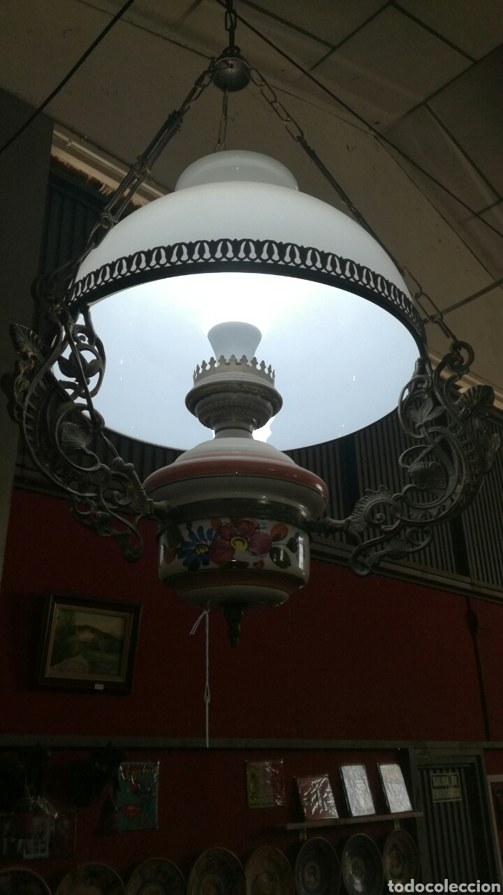 Antigüedades: Lámpara de cadenas - Foto 3 - 95582982