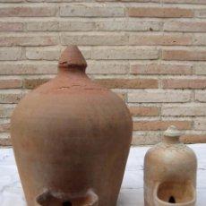 Antigüedades: BEBEDERO GRANDE PARA ANIMALES EN CERAMICA POPULAR.. Lote 98715299