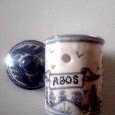 Antigüedades: TARRO PARA AJOS CERÁMICA DE TERUEL MARCADO DOMINGO PUNTER. Lote 95605703