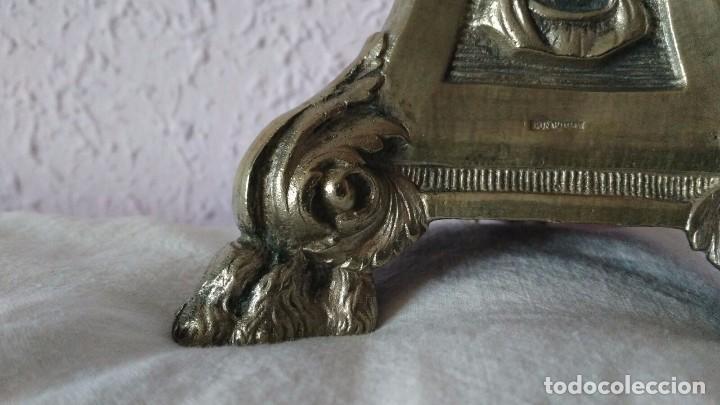 Antigüedades: CANDELABRO DE MENESES DE METAL BLANCO - CONSERVA LOS TRES CONTRASTES - PIEZA ÚNICA - Foto 7 - 95611335