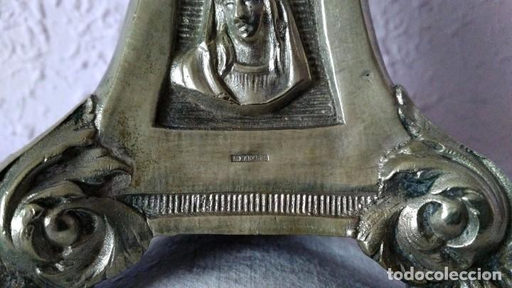 Antigüedades: CANDELABRO DE MENESES DE METAL BLANCO - CONSERVA LOS TRES CONTRASTES - PIEZA ÚNICA - Foto 11 - 95611335