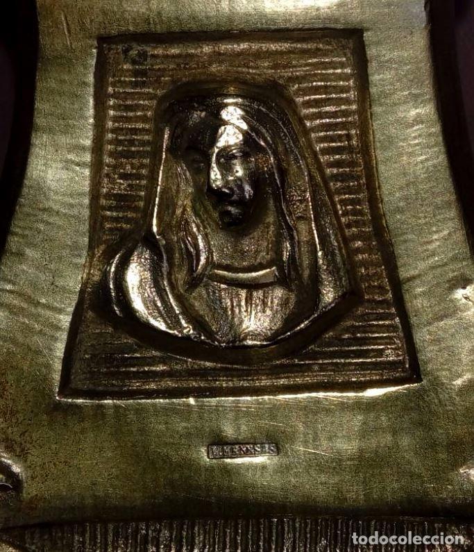 Antigüedades: CANDELABRO DE MENESES DE METAL BLANCO - CONSERVA LOS TRES CONTRASTES - PIEZA ÚNICA - Foto 12 - 95611335
