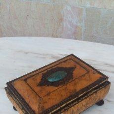 Antigüedades: CAJITA METÁLICA - JOYERO . Lote 95613396