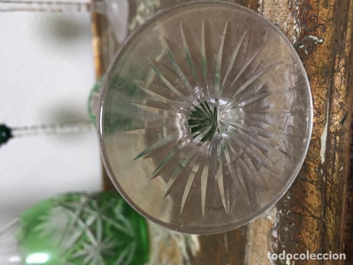 Antigüedades: BACCARAT TALLADO MUY ANTIGUO JUEGO LICORERA SEIS COPAS - Foto 15 - 95614595