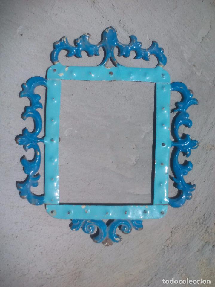 antiguo marco de hojalata o metal, para espejo, - Comprar Marcos ...