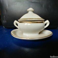 Antigüedades: SALSERA PORCELANA INGLESA.. Lote 95637310