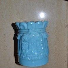 Antigüedades: VASO OPALINO IMAGEN DEL REY. Lote 95663303