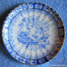 Antigüedades: PLATO PORCELANA SANTA CLARA, CHINA BLAU. DE 11,50 CMS. DIAMETRO.. Lote 95673423