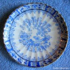 Antigüedades: PLATO PORCELANA SANTA CLARA, CHINA BLAU. DE 11,50 CMS. DIAMETRO.. Lote 95673463