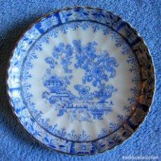 Antigüedades: PLATO PORCELANA SANTA CLARA, CHINA BLAU. DE 11,50 CMS. DIAMETRO.. Lote 95673535