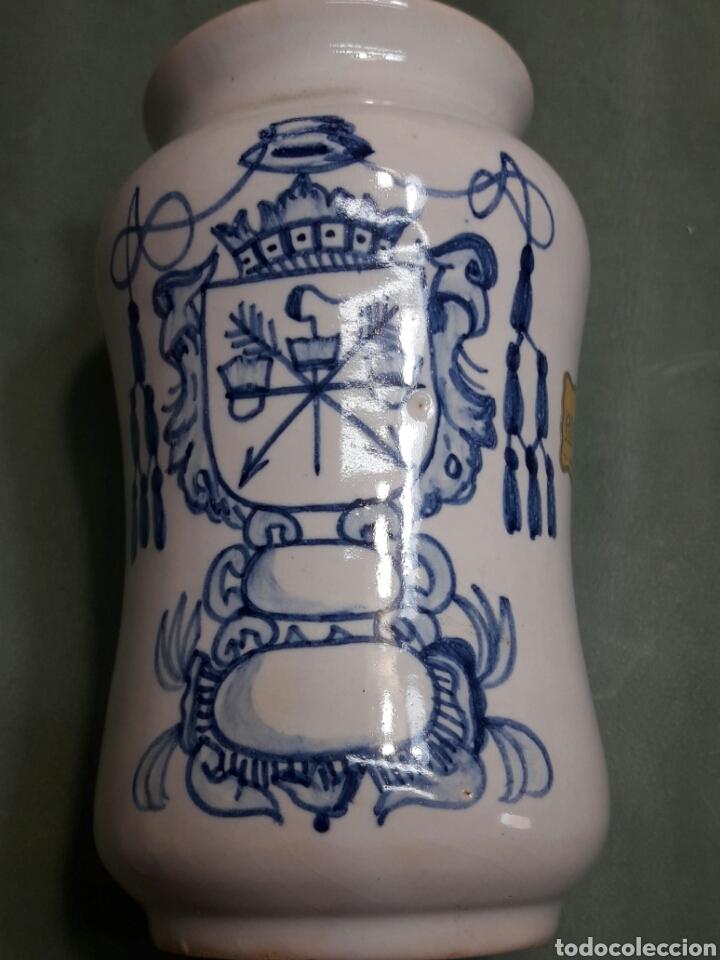 ALBARELOS O TARRO ANTIGUO FARMACIA CERÁMICA TALAVERA AÑO 79 (Antigüedades - Porcelanas y Cerámicas - Talavera)