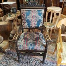 Antigüedades: SILLON ANTIGUO MADERA DE ROBLE. Lote 95713298