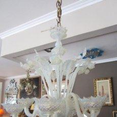 Antigüedades: SOBERBIA LAMPARA DE MURANO. Lote 95736763