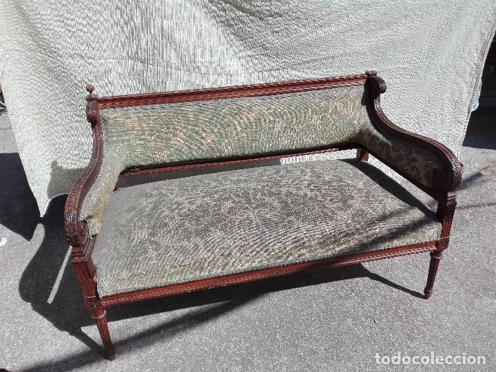 Antigüedades: TRESILLO ESTILO ISABELINO - AÑOS 40 - Foto 4 - 95740959