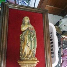 Antigüedades: PRECIOSO CUADRO CON VIRGEN. Lote 95744119