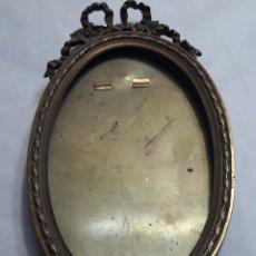 Antigüedades: PORTA FOTOS ANTIGUO FRANCÉS BRONCE AÑOS 30. Lote 219162280