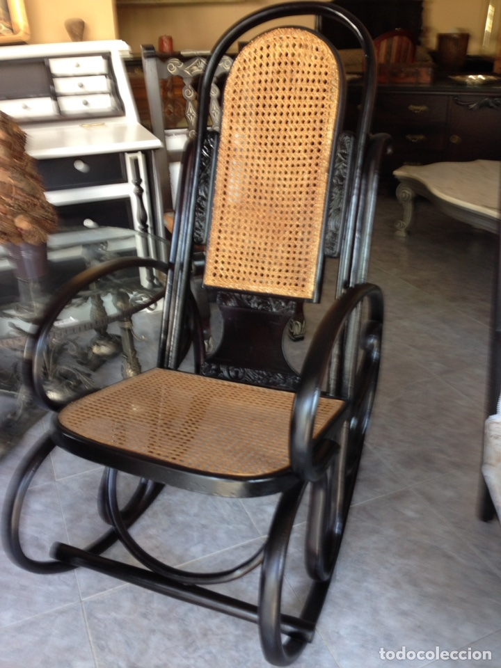 Antigüedades: Antiguo sillón mecedora Thonet - Foto 2 - 95754687