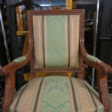 Antigüedades: SILLON ANTIGUO ROBLE SIGLO XX. Lote 95826043