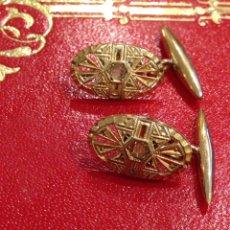 Antigüedades: PAREJA GEMELOS BISUTERÍA. Lote 95868716