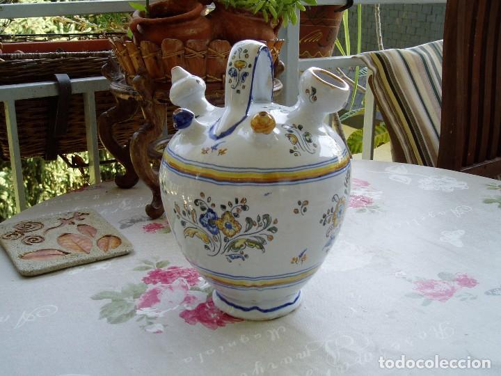 Antigüedades: Botijo de Engaño Enlucido de Talavera - Foto 2 - 95879871