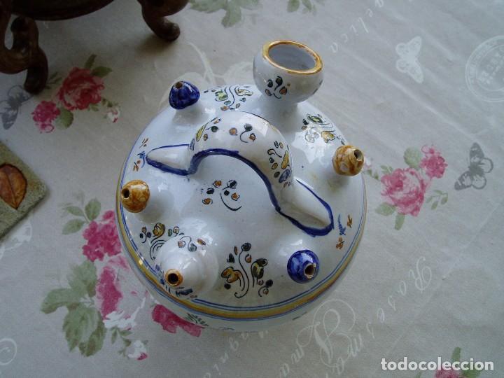 Antigüedades: Botijo de Engaño Enlucido de Talavera - Foto 3 - 95879871