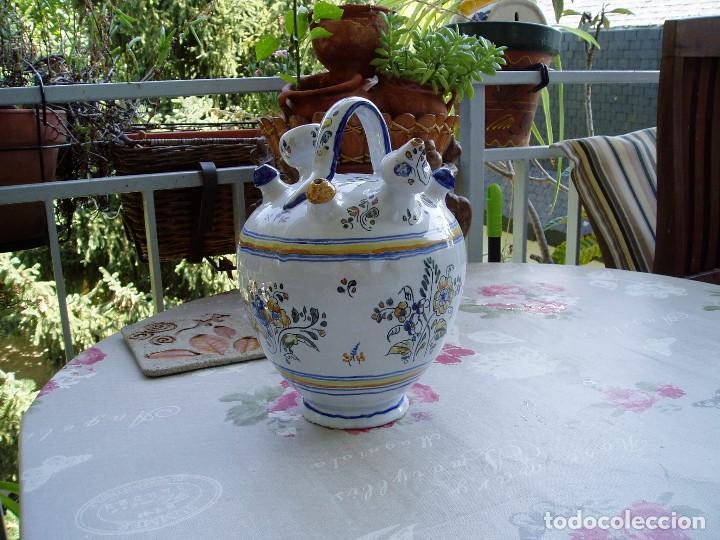 Antigüedades: Botijo de Engaño Enlucido de Talavera - Foto 4 - 95879871