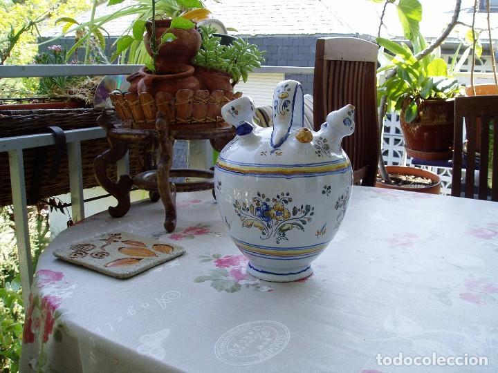 Antigüedades: Botijo de Engaño Enlucido de Talavera - Foto 5 - 95879871