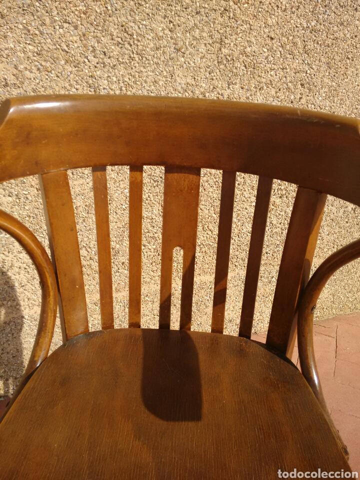 Antigüedades: Silla despacho antigua - Foto 3 - 95881186