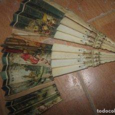 Antigüedades: ABANICO HUESO O MARFIL SIGLO XIX PARA PIEZAS RESTAURACION . Lote 95895279