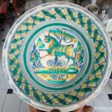 Antigüedades: LEBRILLO DE TRIANA DEL XIX MOTIVO TORO. Lote 95903587