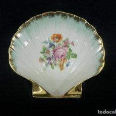 Antigüedades: DESPOJADOR DE FLORES BANDEJA O JABONERA EN PORCELANA LIMOGES. Lote 95904423