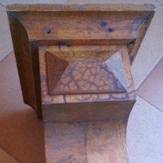 Antigüedades: MÉNSULA REPISA CAPITEL DE MADERA MACIZA ANTIGUO. Lote 95937963