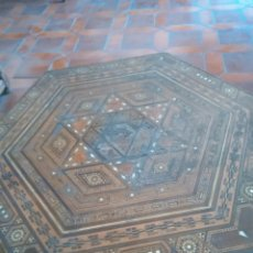 Antigüedades: MESA DE MARQUETERIA. Lote 95940726