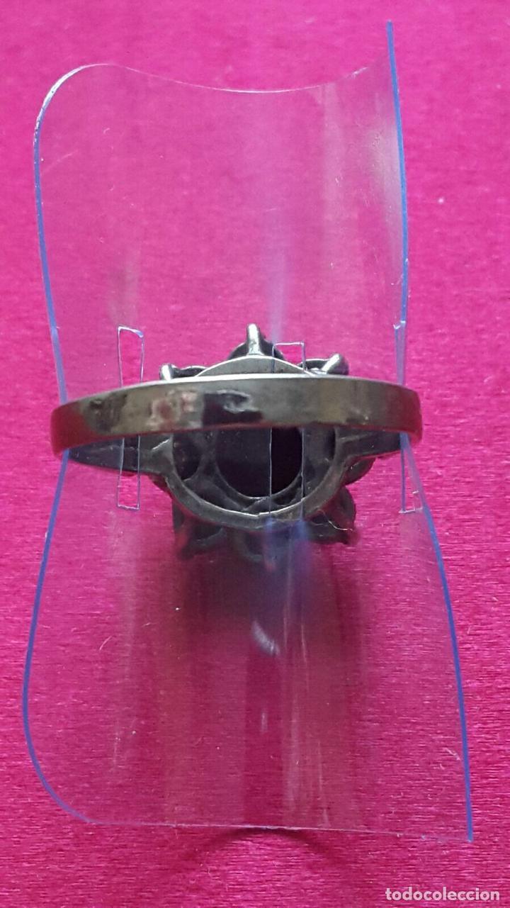 Antigüedades: Antiguo anillo o sortija de plata egipcia con pedrería - Foto 2 - 95945323