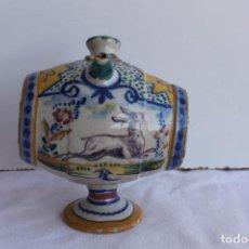 Antigüedades: PEQUEÑO BOTIJO CERÁMICA DE TRIANA SIGLO XIX. Lote 95951387