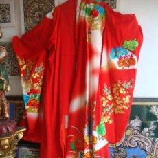 Antigüedades: KIMONO JAPONES SEDA BORDADO. Lote 95959691