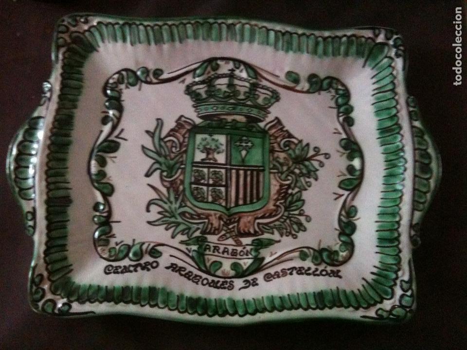 BANDEJA DOMINGO PUNTER-ARAGON (Antigüedades - Porcelanas y Cerámicas - Teruel)
