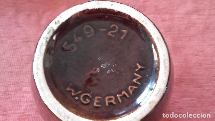Antigüedades: Antiguo jarron de ceramica scheurich keramik.w, germany, 549-21,tonos rojos y negros. - Foto 4 - 95968479