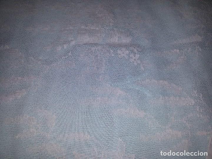 Antigüedades: DOS CORTINAS EN BLANCO ANTIGUO-S.XIX - Foto 14 - 95971003