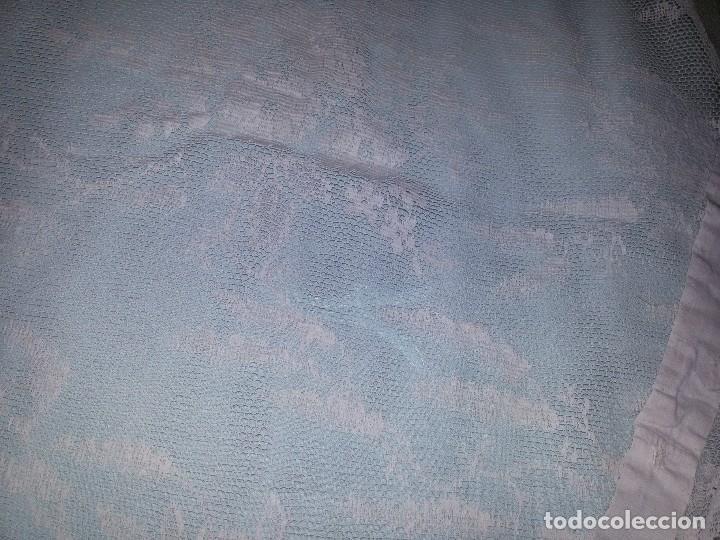 Antigüedades: DOS CORTINAS EN BLANCO ANTIGUO-S.XIX - Foto 20 - 95971003