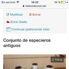 Antigüedades: ESPECIEROS ANTIGUOS. Lote 96004599