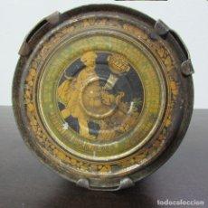 Antigüedades: ANTIGUO RECIPIENTE DE METAL LATA PARA GUARDAR ALIMENTOS METALGRÁFICA LOGROÑESA. Lote 96015471