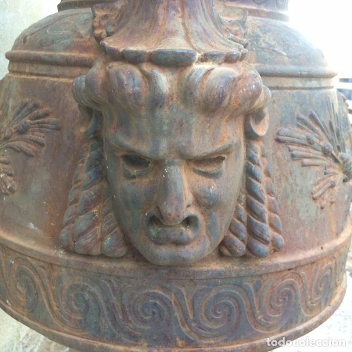 Antigüedades: Antiguo Jarrón de hierro colado - Foto 5 - 96038512