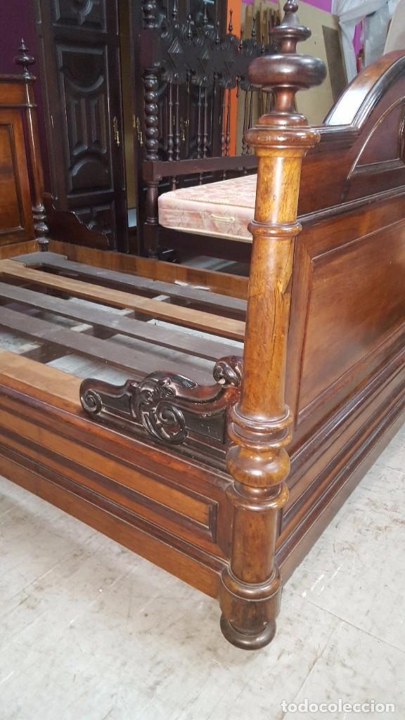 Antigüedades: impresionante cama de barco en madera de - Foto 3 - 96058147