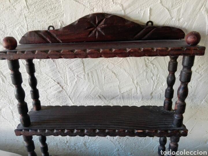 Antigüedades: Estanteria antigua castellana rustica juguetero madera torneada ideal decoración Shabby Chic rustica - Foto 2 - 96066042