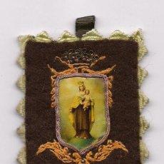 Antiquitäten - ANTIGUO ESCAPULARIO BORDADO RELIGIOSO CATOLICO RELIQUIA SCAPULAR VIRGEN DEL CARMEN ENVIO GRATIS - 96078155
