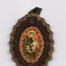 Antigüedades: ANTIGUO ESCAPULARIO BORDADO RELIGIOSO CATOLICO RELIQUIA SCAPULAR SAN ANTONIO DE PADUA ENVIO GRATIS. Lote 97745608