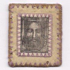 Antigüedades: ANTIGUO ESCAPULARIO BORDADO RELIGIOSO CATOLICO RELIQUIA SCAPULAR ROSTRO DE JESUS CRISTO ENVIO GRATIS. Lote 96078691